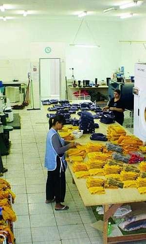 Lavanderia industrial de uniformes