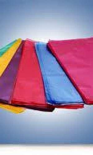 Orçamento de saco colorido